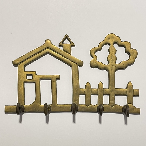 **SOLD** vintage brass key holder